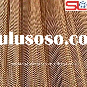 flexible metal mesh fabric, colored decorative wire mesh