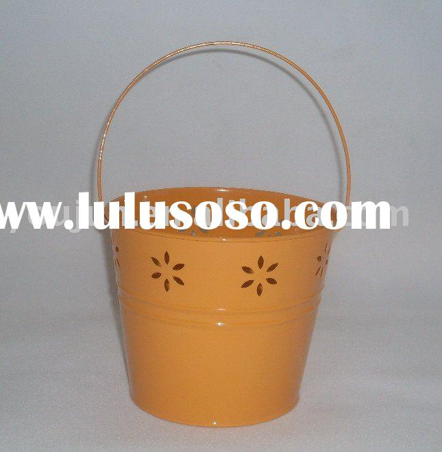 flower pot,metal pot,bucket,galvanized zinc planter,wax candle pail