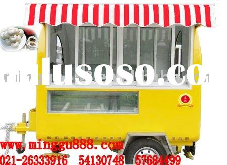 food vending carts with big wheels(CE Approval,Manufacturer)