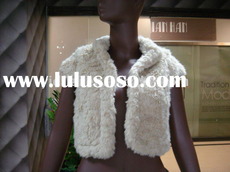 girl faux fur vest