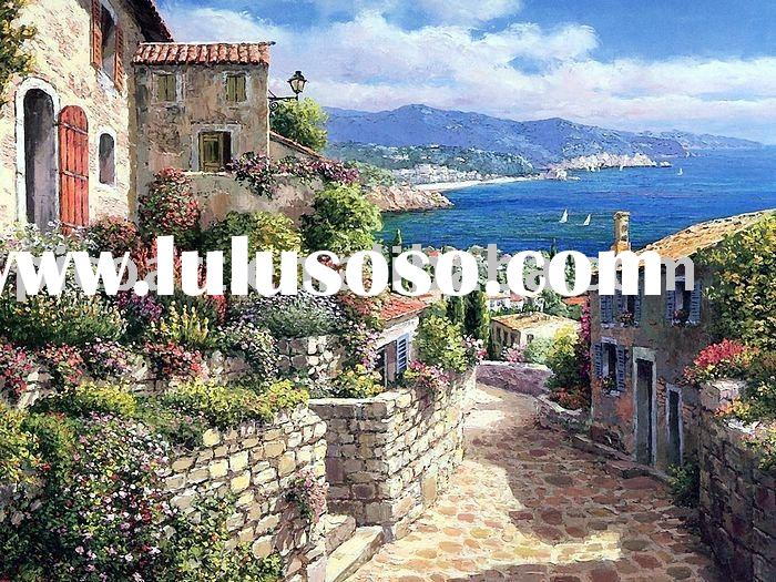 hand painted landscape oil painting(Tossade Mar Italy)