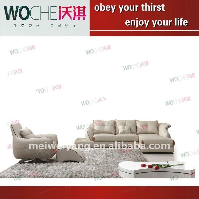 high quality leather sofa leisure home furniture (WQ6861)