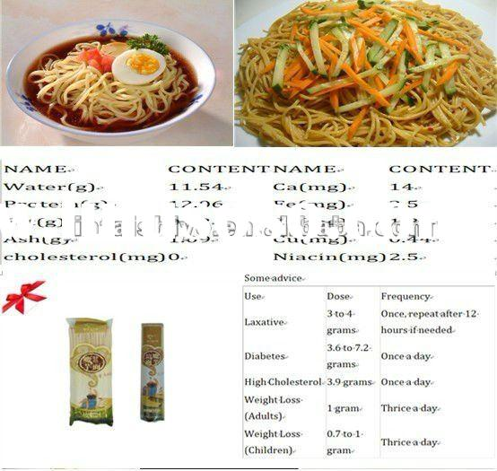 high quality shirataki noodles/Konjac noodles for 2012