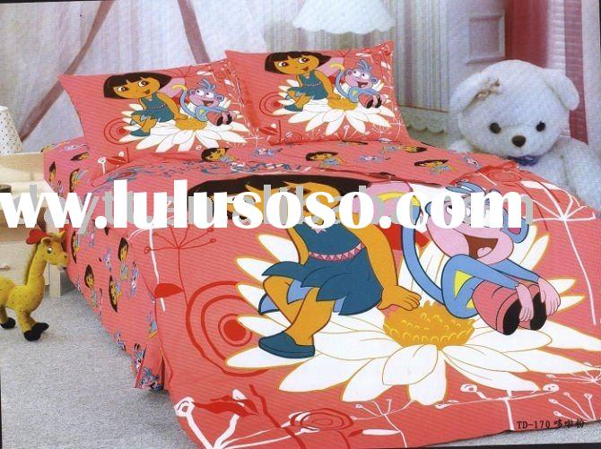hot sell 3pcs/set DORA beding set for kids children's bedding set lovely style on sale &