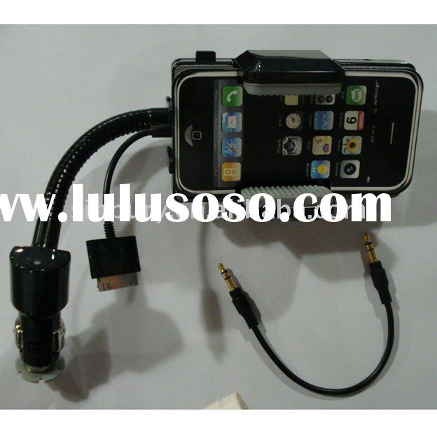 hot sell Fm transmitter car charger car holder for iphone 4G