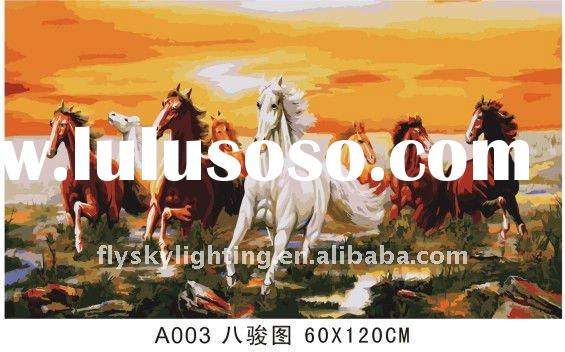 hot selling (60*120cm) DIY oil painting by numbers; DIY painting by numbers for room decoration or g