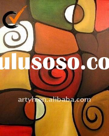 hotel decor abstract oil painting on canvas