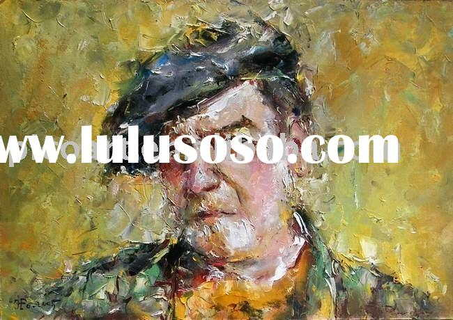 impressionist portrait oil painting on canvas