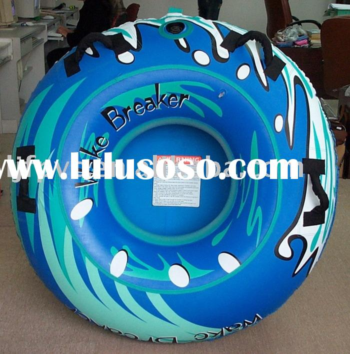 inflatable water/snow tube, water ski tube, inflatable towable