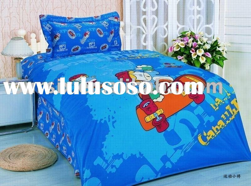 kids bedding, comforter, Cartoon Reactive Printed Bedding Set,fitted sheet
