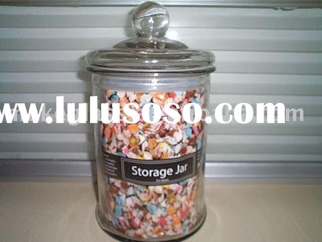 large glass candy jar,glass storage jar with lid,glassware