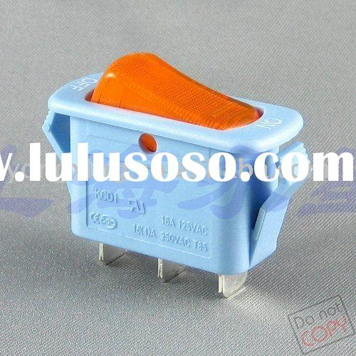 lighted 12v rocker switch with blue housing