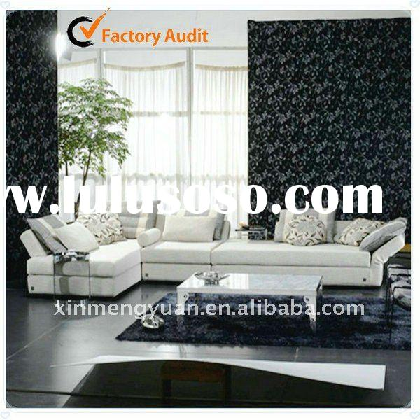 living room top grade real leather sofa set F268
