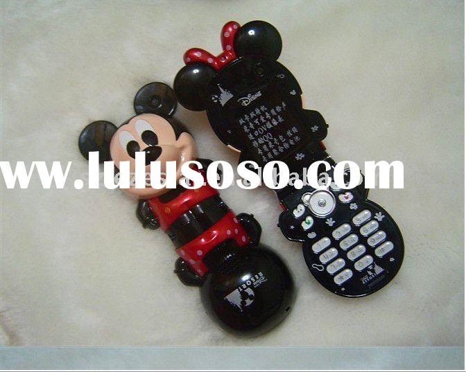 lovely Mini Mickey Mouse C268 Mobile Phone Dual SIM Standby Quad-band Cell Phone with FM and Bluetoo