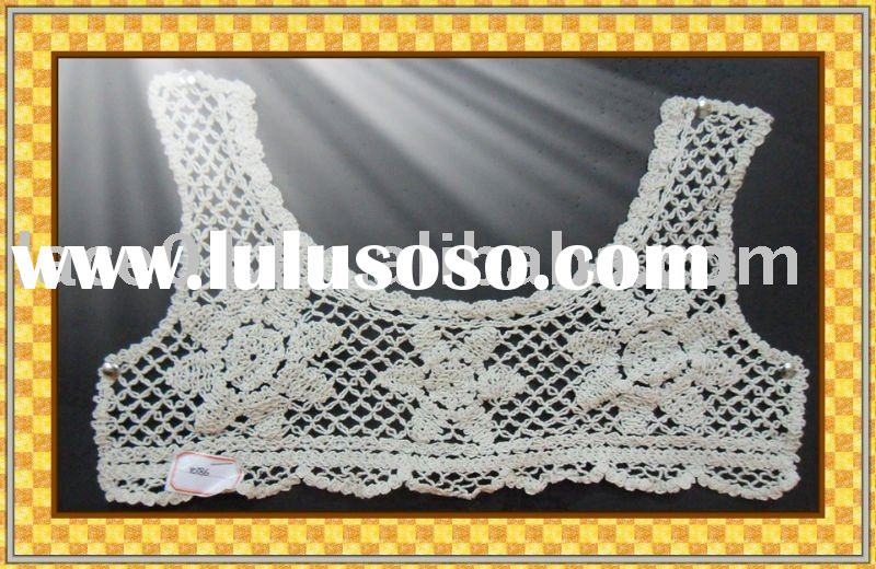 machine embroidery lace/cotton lace collar/dress accessories/lace trimming