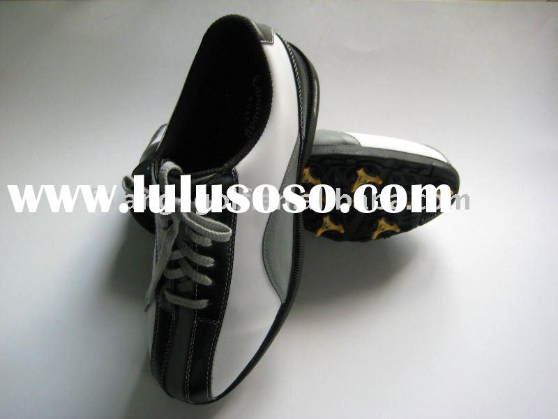 men's leather golf shoes