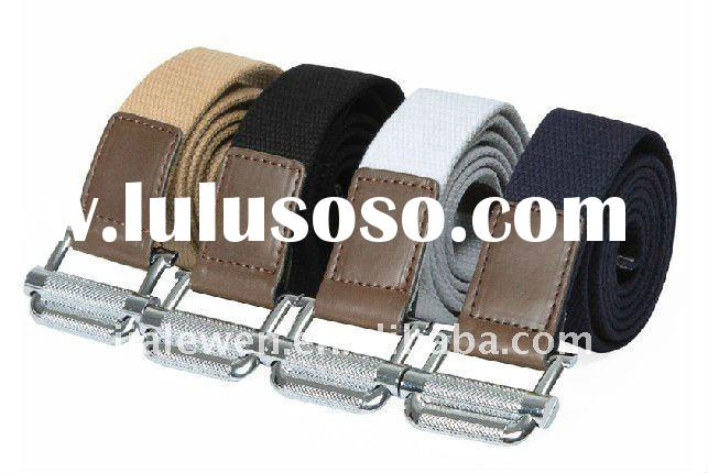 military slide buckle mens canvas belt