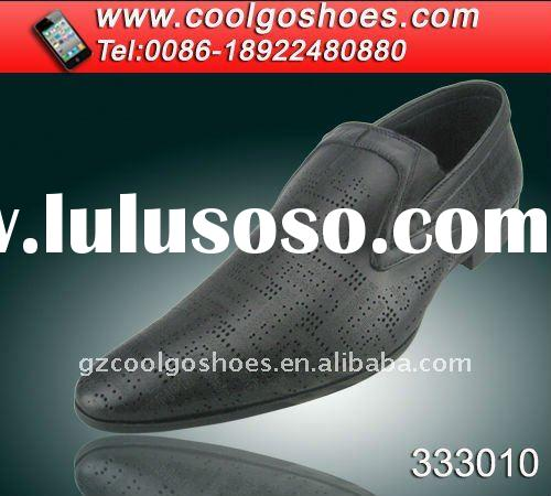 new italy design men leather shoes & dress shoes with breathable and unique design in guangzhou