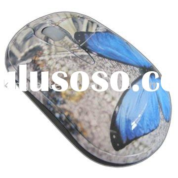newest retractable computer mouse with water transfer printing
