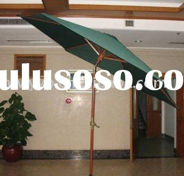 patio wooden umbrella with tilt & crank/canopy beach umbrella