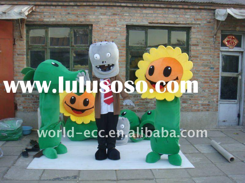 plant and zombie mascot costume,advertising, movie cartoon costume, game fur costume