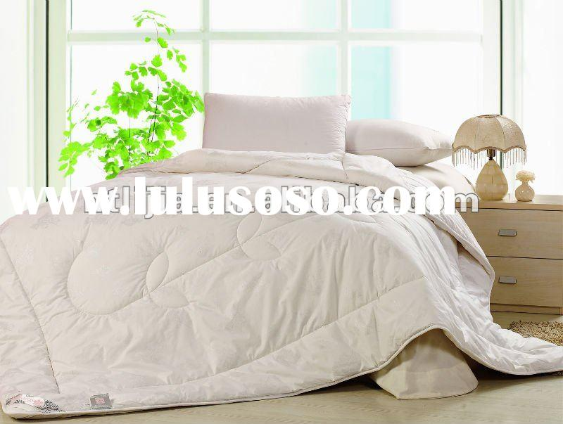 polycotton T/C plain white quilt and comforter set