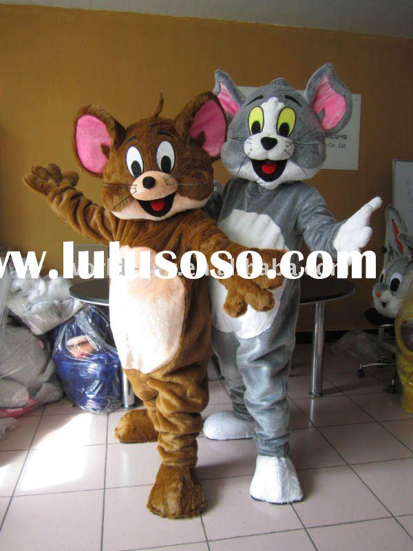 popular Tom and Jerry costume,movie cartoon costume,mouse plush mascot costume