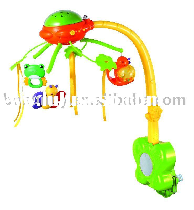rainbow baby mobile music box:900201 baby toys luminous mobile