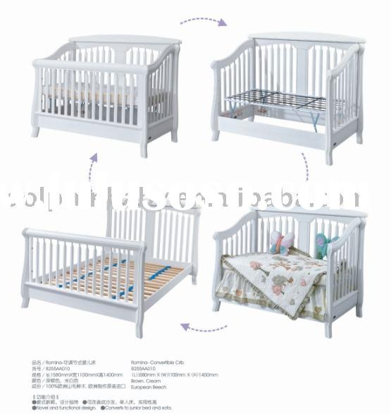 sell 4 in 1 baby beds, wooden baby cot, convertibel crib