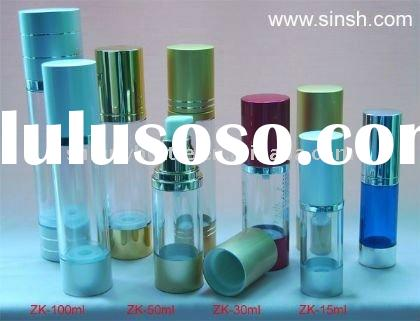 small round glass perfume bottle with pump spray