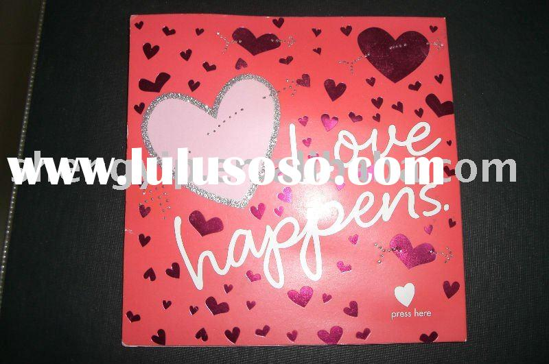 sound greeting card for Valentine's Day