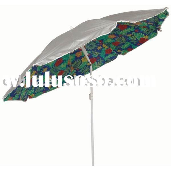 uv proof portable beach umbrella with tilt function