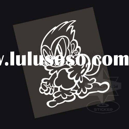 wholesale T0057 Angels and devil car sticker reflective Auto Vinyl Decorative racing stickers and de