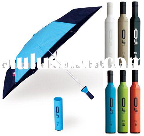 wine bottle shape umbrella,new umbrella,gift umbrella,bottle umbrella,nice gift,new product