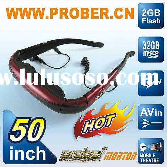 wireless video camera/head mounted display/multimedia player display/video glasses