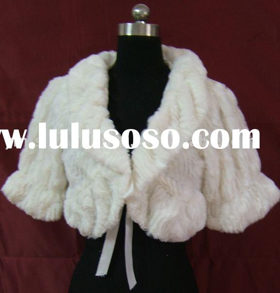 yinishi ivory faux fur bridal stole/ shawl/ wrap/ cape /coat AL13