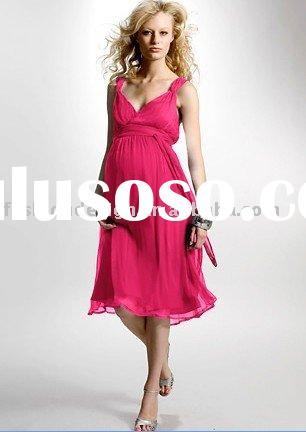 2010 chiffon Maternity evening dresses Pregnant dress,prom dresses, mp018