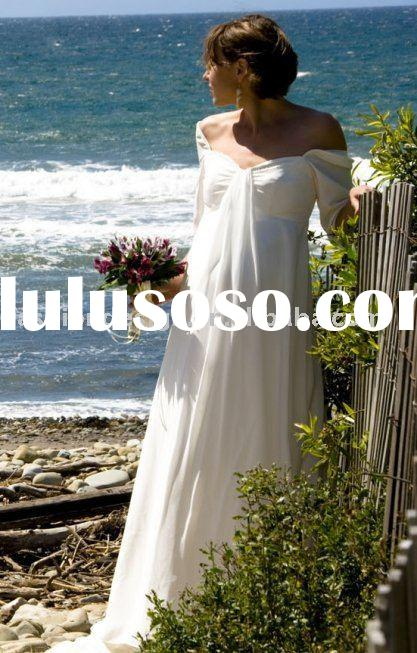 2010 new arrival Maternity wedding dresses Pregnant wedding and evening gowns,formal prom dresses, m