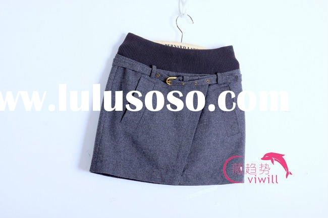 2011 Cheap Skirt!! Viwill Grey Girls Skirt Lady Fashion Skirt Short Dress in Stock!