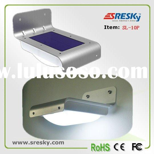 2011 Solar outdoor LED lighting with motion sensor