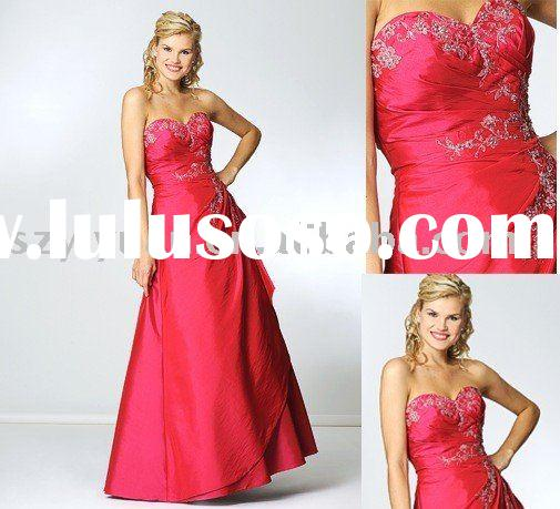 2011 new style cheap red long evening dress