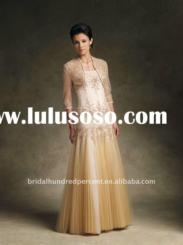 2012 cheap mother evening dress with jacket