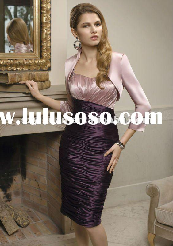 2012 new style sweetheart jacket fashion short evening party dress