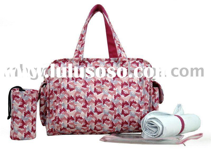2012 newest Fashion diaper bag with baby bag hot sell