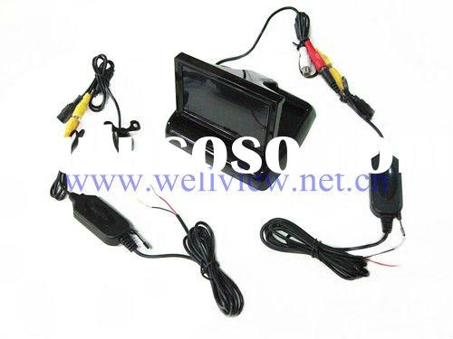 2.4G Wireless Car Reversing Kits with 4.3inch Flip Down Monitor and Mini Camera of 170 Degree