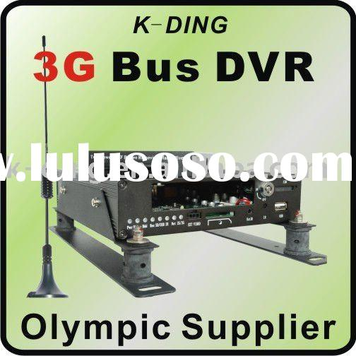3G Mobile DVR, 4ch Bus DVR, remote monitoring, 4 channel recording, WCDMA, LAN reviewing, Wifi, GPS,
