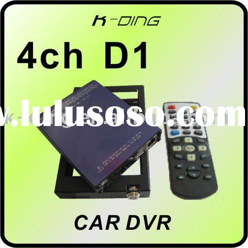 4 ch mobile DVR with D1 resolution and GPS function/support 64GB SD and 500GB HDD memory/High defini