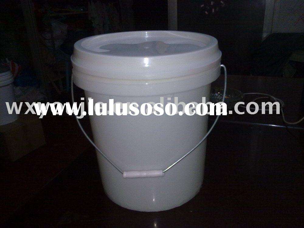 5 gallon plastic round bucket wiht handle for liquid