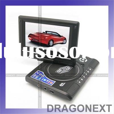 "7.8"" Portable EVD DVD USB Game TV Player With Card Reader Slot"