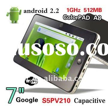 "7"" Android 2.3 Capacitive s5pv210 Cortex A8 1GMHz 512MB/4GB with Samsung Tablet PC"